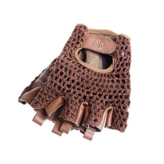 BLB Leather Cycling Gloves - Brown