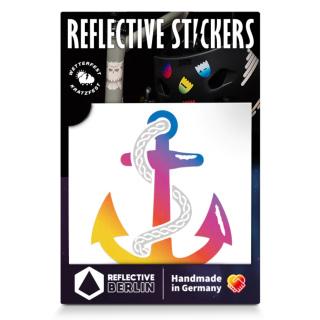 """REFLECTIVE BERLIN """"Anchor"""" Reflektierender Sticker"""