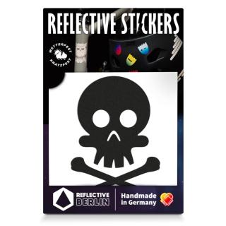"REFLECTIVE BERLIN ""Skull"" Reflektierender Sticker"