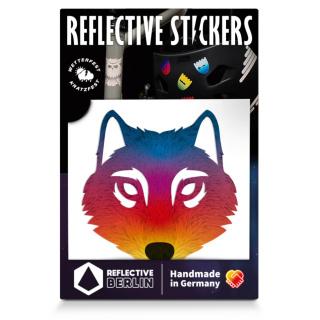 """REFLECTIVE BERLIN """"Wolf"""" Reflektierender Sticker"""