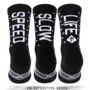 """PACIFIC & CO """"Speed/Slow Life - Black"""" Reflective Socks"""
